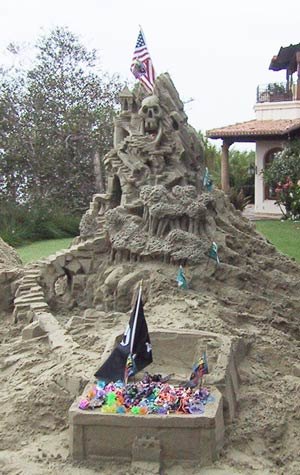 pirate mountain sandcastle