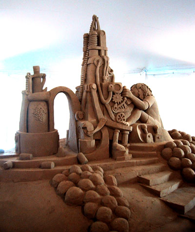 completed sand sculpture