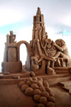"""Pop"" teamed with sandy feet at the Quebec Sand Sculpture International Invitational 2001"